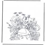 Tegneseriefigurer - Alice in Wonderland 1