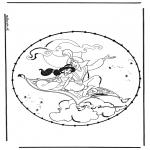 Broderkort - Alladin stitching 2