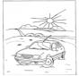 Auto in landschap