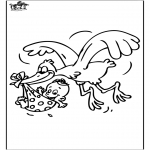 Temaer - Baby and Stork 1