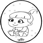 Temaer - Baby - Pricking card 1