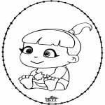 Temaer - Baby - Pricking card 2