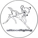 Tegneseriefigurer - Bambi Invitation