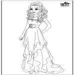 Tegneseriefigurer - Barbie wedding dress