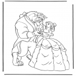 Tegneseriefigurer - Beauty and the Beast 3