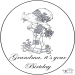 Kreativitet - Birthday grandma