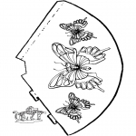 Kreativitet - Butterfly - hat 2