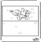 Kreativitet - Card baby 4