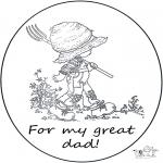 Kreativitet - Card for daddy