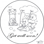 Kreativitet - Card get well 4