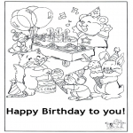 Kreativitet - Card happy birthday 5