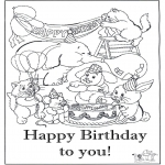 Kreativitet - Card happy birthday 6