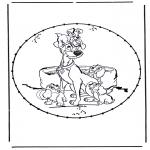 Broderkort - Cartoon stitchingcard 1