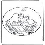 Broderkort - Cartoon stitchingcard 4