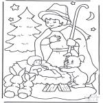 Jul - Child in manger