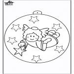 Jul - Christmas ball with angel 2