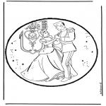 Pricking cards - Cinderella 10