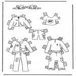 Kreativitet - Cloth paper doll 1