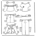 Kreativitet - Cloth paper doll 2