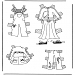 Kreativitet - Cloth paper doll 3