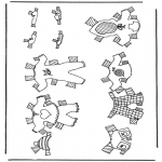 Kreativitet - Cloth paper doll 4