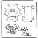 Kreativitet - Cloth paper doll 5