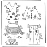 Kreativitet - Cloth paper doll 6