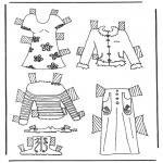 Kreativitet - Cloth paper doll 6
