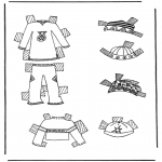 Kreativitet - Cloth paper doll 7