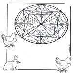 Mandala - Coloring page mandala hearts
