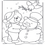 Vinter - Coloring page snow