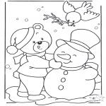 Vinter - Coloring page snow