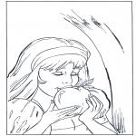 Litt av hvert - Coloring page Snow White