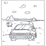 Litt av hvert - Coloring pages car