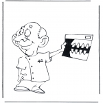Litt av hvert - Coloring pages dentists