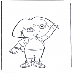 Småbarn - Coloring pages Dora the Explorer