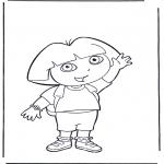 Småbarn - Coloring pages Dora the Explorer