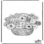 Litt av hvert - Coloring pages flowers