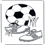 Litt av hvert - Coloring pages Football