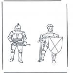 Litt av hvert - Coloring pages knights