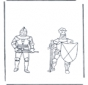 Coloring pages knights