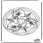 Mandala - Coloring pages mandala angel