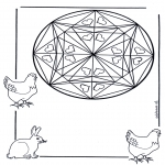Mandala - Coloring pages mandala animals
