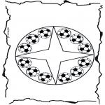 Mandala - Coloring pages mandala football