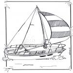 Litt av hvert - Coloring pages sailingboat