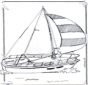 Coloring pages sailingboat