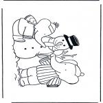 Vinter - Coloring pages Snowman 1