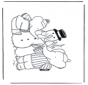 Coloring pages Snowman 1