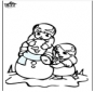 Coloring pages Snowman 3
