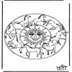 Mandala - Coloring picture mandala horse